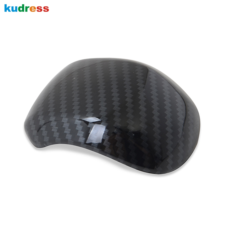 For <font><b>Hyundai</b></font> <font><b>Santa</b></font> <font><b>Fe</b></font> 2019 2020 Carbon fiber Gear Shift Head Konb cover Base Cover interior trim car sticker <font><b>accessories</b></font> image