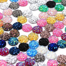 50/100pcs Mineral Surface Rhinestone Resin Flat Back Crystal Round Shape Strass 8MM 10MM 12MM Glue On Clothes Phone Case
