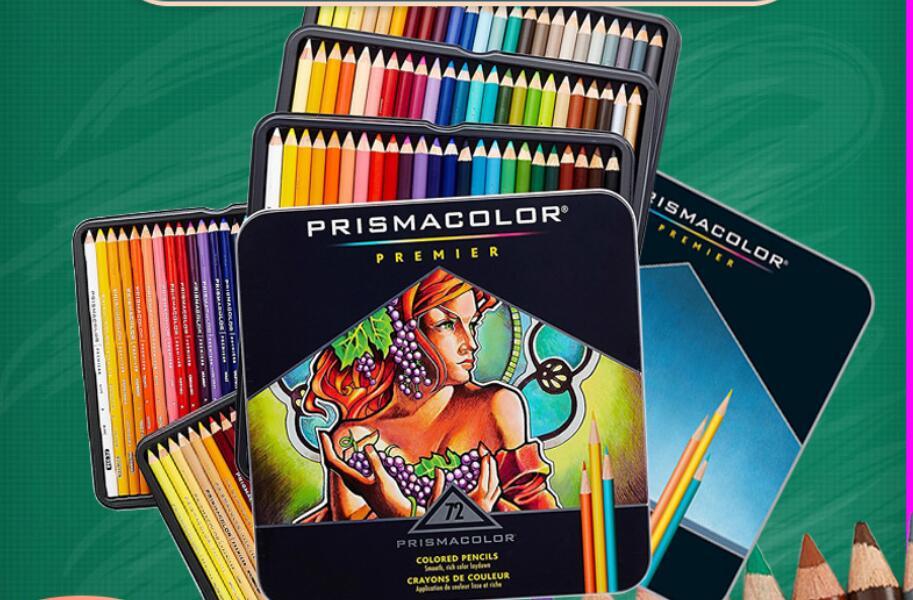 Prismacolor premier 12/24/48/60/72/120/132/150 cor lápis de lápis artístico de cor
