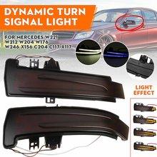 2 pçs dinâmico led turn signal light indicador de espelho blinker para mercedes benz w176 w246 w204 w212 c117 x156 c204 x117