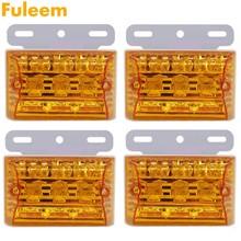Fuleem 4 шт. 20 светодиодный индикатор габаритный светильник Янтарный Водонепроницаемый 24 В для грузовика Авто Лодка Необычные