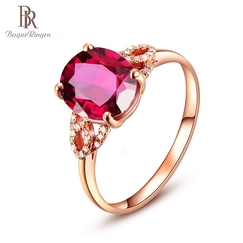 Bague Ringen 925 Silver Created Ruby Opening Adjustable Rings For Female Wedding Engagement Red Gemstone Ring Jewellery Gift