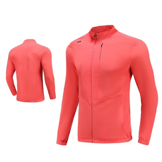 PGM Men Golf Clothes Waterproof Thin Coat Windbreaker Vest Autumn Zipper Long Sleeve Jacket Male SportsWear Keep Warm Apparel 4