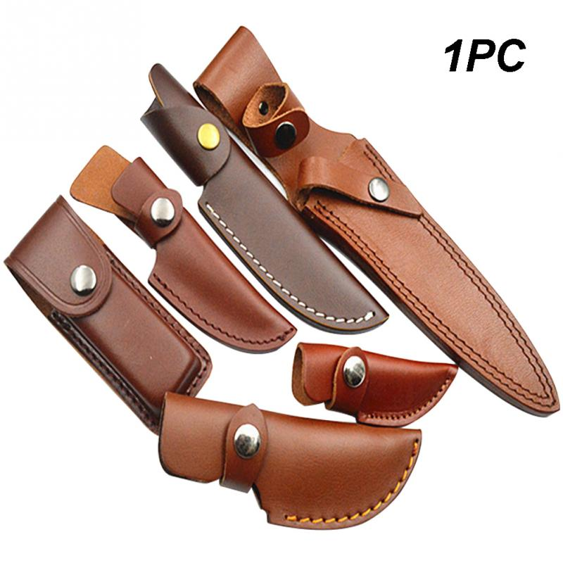 Hunt Snap Fastener Knife Sheath Holder Pocket Outdoor Camping  Artificial Leather Multi Tool Case Belt Loop Hiking Pouch Holster