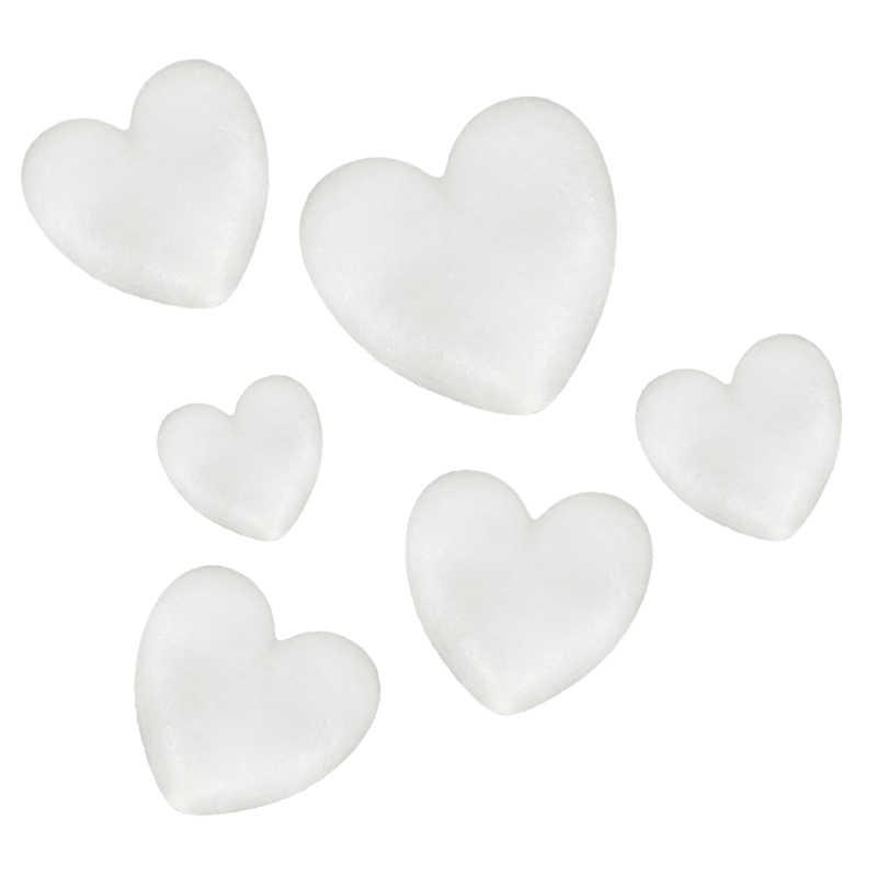 60-300mm espuma de poliestireno Blanco Amor espuma regalos corazón bola adornos Flor de manualidades Pascua DIY decoración de fiesta de boda