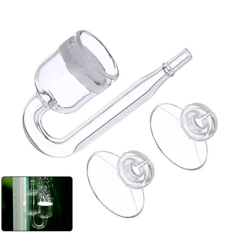 Aquarium CO2 Diffuser Glass Tank Regulator CO2 Atomizer With Ceramic Disc Suction Cups For Fish Tank