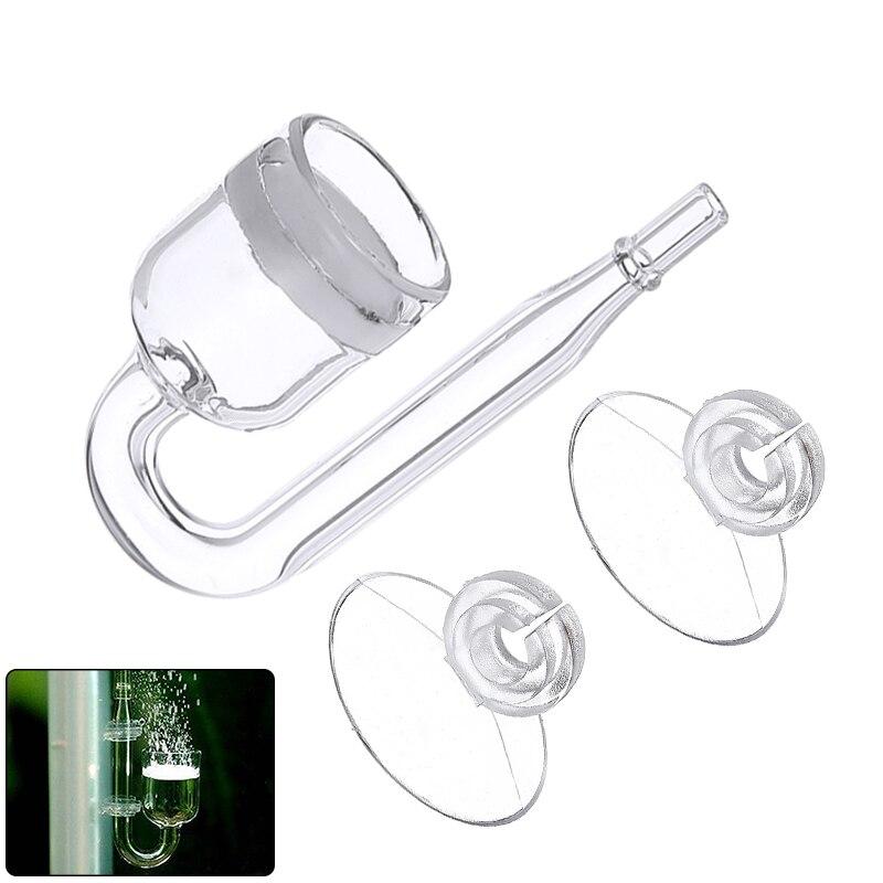 Aquarium CO2 Diffuser Glass Tank Regulator CO2 Atomizer With Ceramic Disc Suction Cups For Fish Tank
