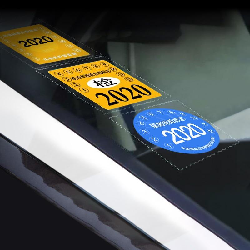 3 Pieces Automobile Windshield Electrostatic Stickers 9.5cm*9.5cm Car Static Sticker Auto Interior Accessories