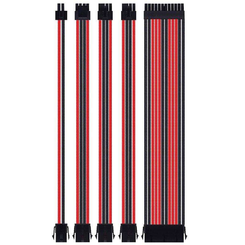 18awg em x extensão sleeved cabo kit
