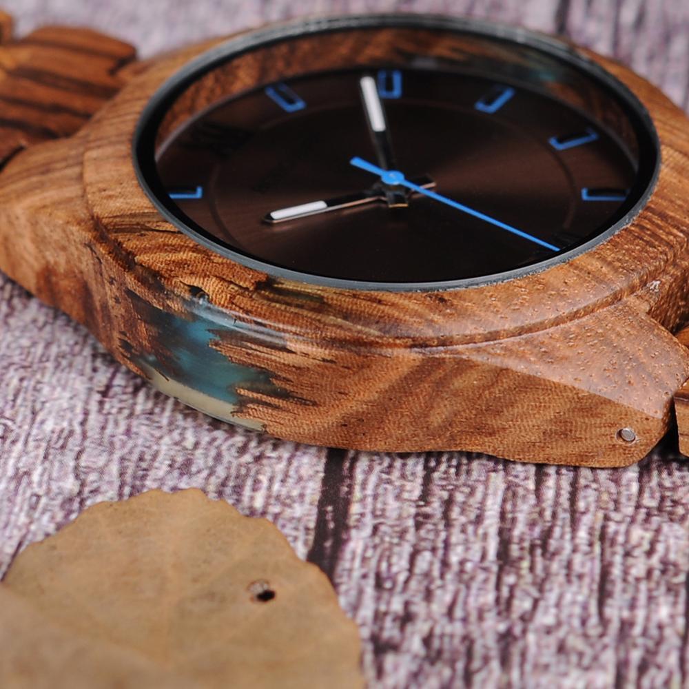 Relogio masculino bobo pássaro relógio de madeira homem design especial artesanal relógios de pulso para ele com caixa de presentes de madeira oem dropshippingRelógios de quartzo   -