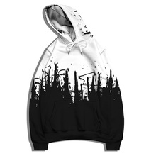 Art Ink  Print Hoodie Men's Clothing Fashion Trend Oversized Loose Sports Pullover Casual Sweater Harajuku Retro Punk Streetwear