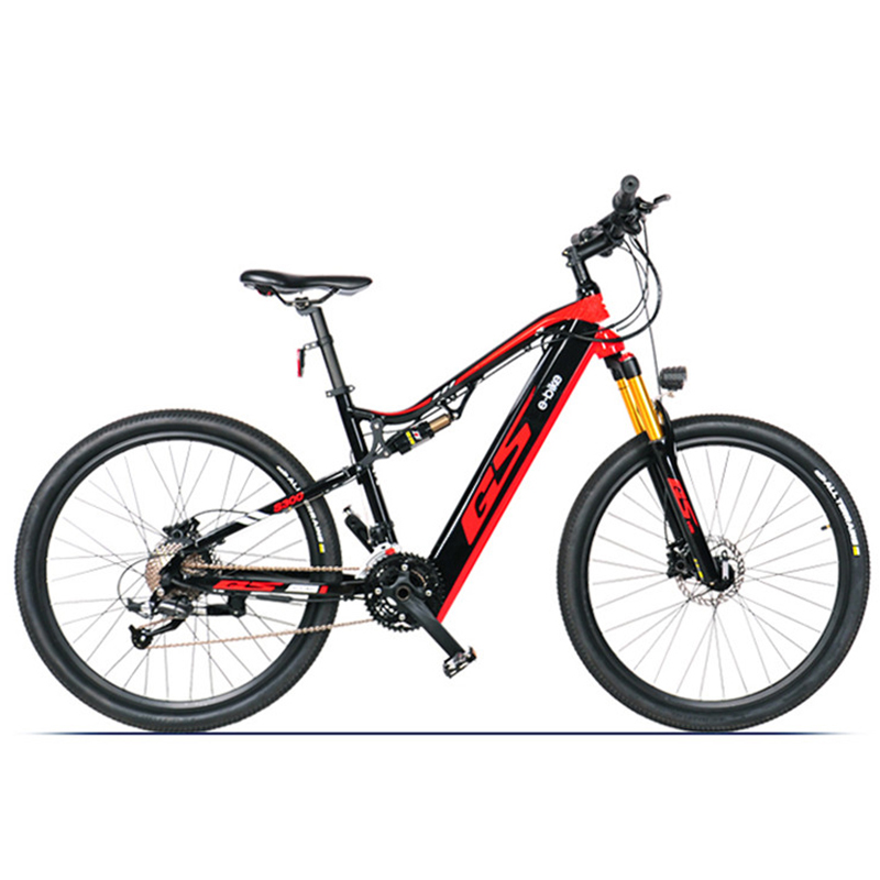 4,3-дюймовый горный велосипед с электроприводом и мягким хвостом, передние и задние двойные амортизаторы, 48 В 27,5 Вт, литиевая батарея 17 Ач, TR ...