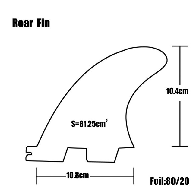 Surf FCS 2 K2.1 rear Fin yellow Fibreglass Quilhas fcs ii K2.1 rear Fins Surf Board Quilhas Fins FCSII Fins in Surfing