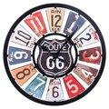 Ретро-часы с маршрутом 66  34 см  европейские  бесшумные  Разноцветные часы для домашнего декора  настенные кварцевые часы  современный дизайн ...