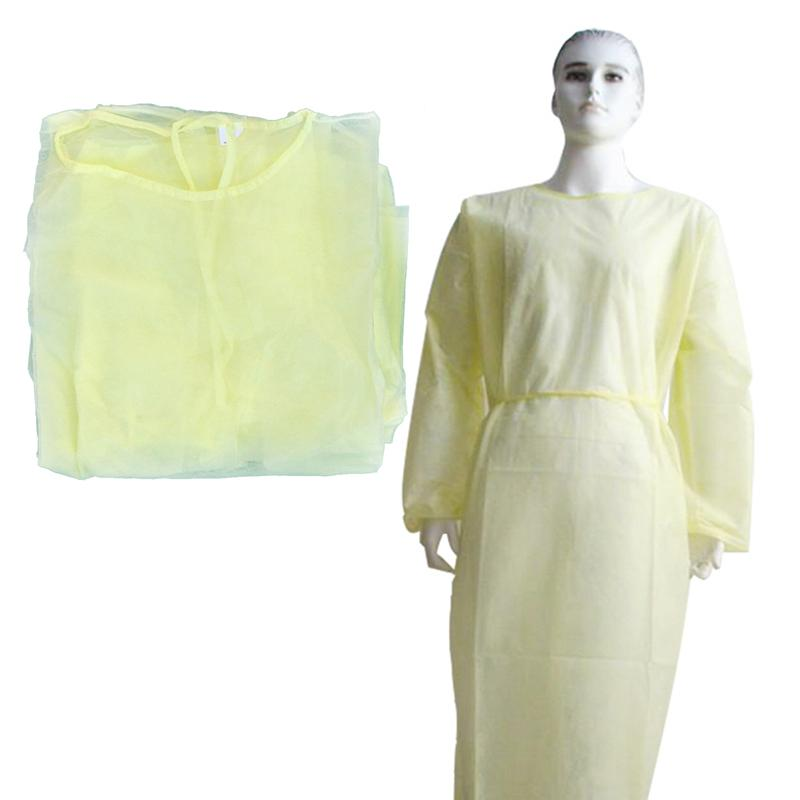 2PCS Breathable Isolation <font><b>Gowns</b></font> Safety Protection Clothes Nonwoven Coverall Visitation Clothes <font><b>Labour</b></font> Suit image