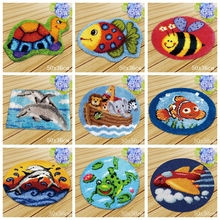 Marine Life Knoopkussen Dieren Latch Hook Embroidery Carpet Foamiran For Needlework Rug Kits DIY Knooppakket Tapijt