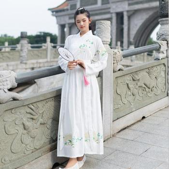 Hanfu men and women's CP couple Martial Arts Troupe Embroidered  ingenuity wide sleeved cloak casual daily  ancient Chinese