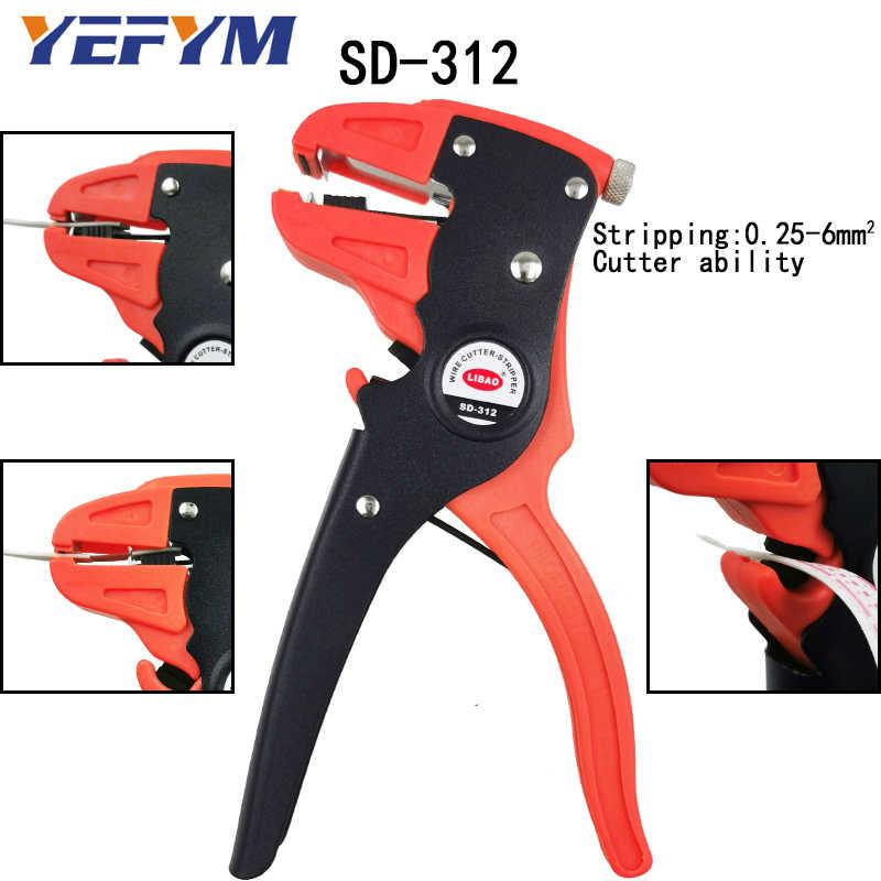 Wire Stripper คีมเครื่องมือไฟฟ้า acutomatic Manual Stripper เครื่องตัด CLAMP ความสามารถ 0.2-6mm2 เครื่องมือ Collection