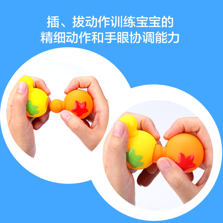 Children'S Educational Toy Flexible Cordless Beaded Bracelet Assembled Building Blocks Of Flexible Glue Infant Early Education T