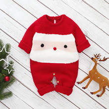 0-24M Newborn Baby Boy Girl Rompers Christmas Costumes Long Sleeve Red Santa Claus Jumpsuit Playsuit Autumn Winter Baby Clothes
