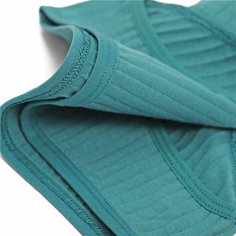 ผู้หญิงกางเกงกางเกงผ้าฝ้ายนุ่มสีทึบกางเกงลายกางเกงเซ็กซี่ชุดชั้นในหญิงชุดชั้นในสตรี Intimate M-XL