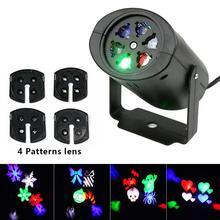 Рождественский светодиодный светильник для проектора, новогодний лазерный проектор в виде снежинки, прожектор для дискотеки, светильник для сцены, водонепроницаемый домашний садовый декор, светильник s