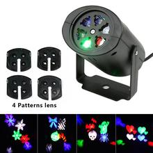 Christmas LED Projector Light New Year Laser Snowflake Projection Disco Stage Light Waterproof Home Garden Decor Lights