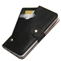 Business Natural Leather Wallet Phone Case Standing Cover For Huawei P Smart Z/Huawei P Smart Phone Pouch Bag Card Slot Holder
