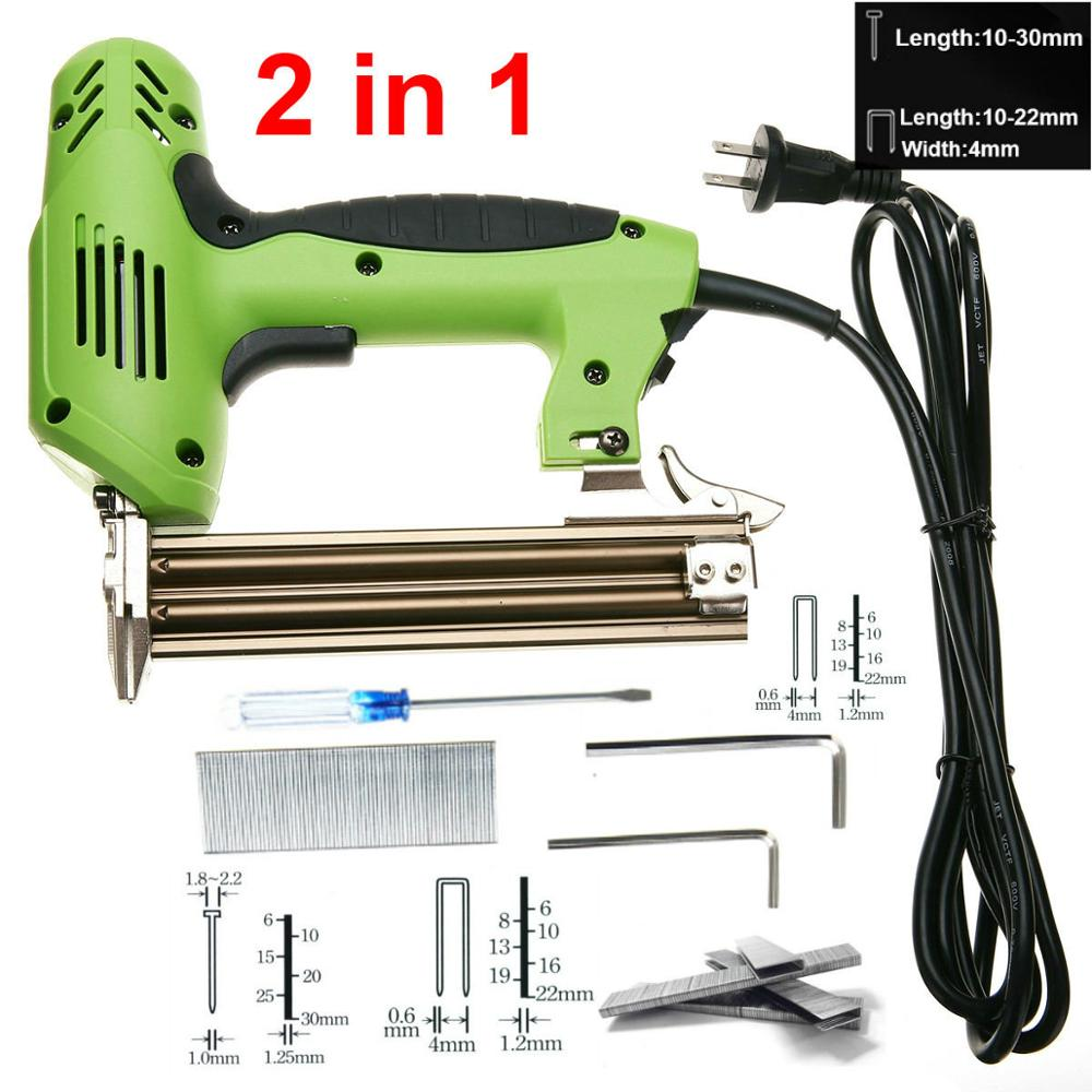 2 In 1 Nail Gun Framing Tacker Electric Nails Staple Gun 220V 1800W Power Tool Stapler Gun For Furniture