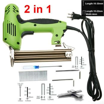 2 In 1 Nail Gun Framing Tacker Electric Nails Staple 220V 1800W Power Tool Stapler for Furniture - discount item  40% OFF Tool Sets