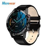 Microwear-reloj inteligente L16 VS L15 L19 GT2 para hombre, deportivo, resistente al agua, Monitor de ritmo cardíaco y presión arterial, 360x360 HD