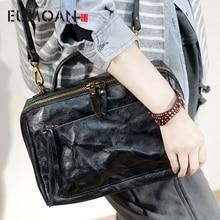 EUMOAN British retro handmade cowhide leather shoulder diagonal bag casual small Sen Department of Japan and South