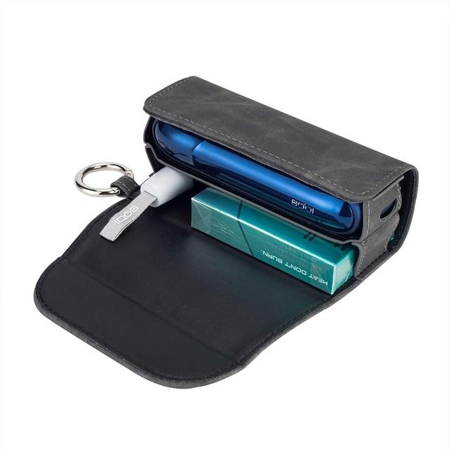 موضة الوجه غطاء كتاب مزدوج ل 3.0 حقيبة صغيرة وجراب حامل غطاء محفظة جلدية الحال بالنسبة iqos 3