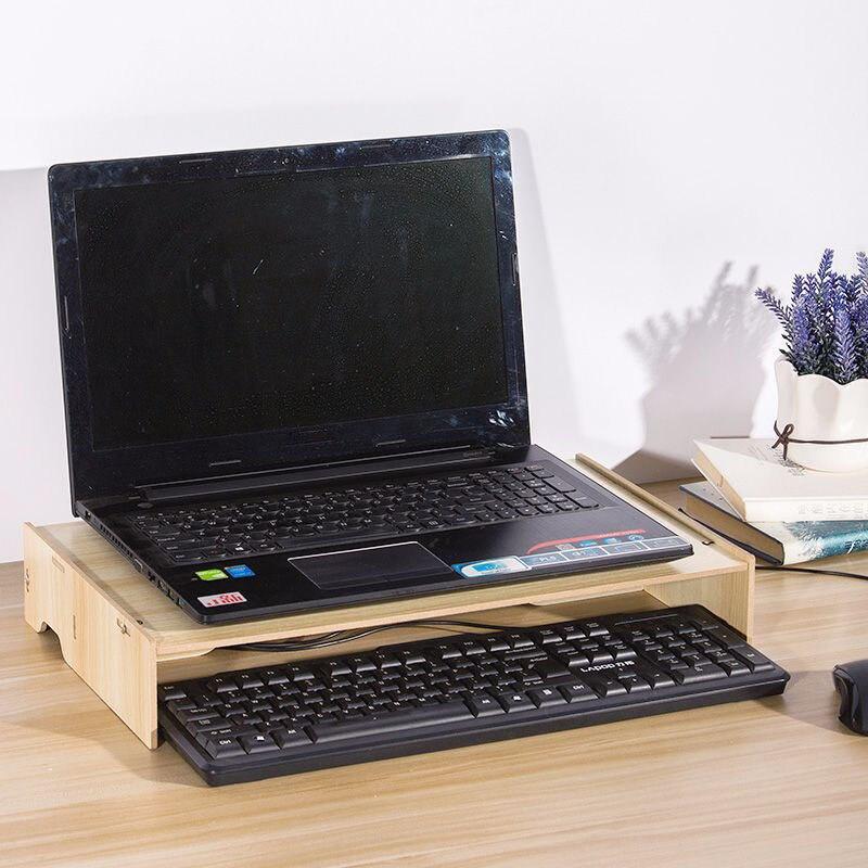 Wood Desk Set Wooden Table Shelf Heighten Adjustable Desk Set Joy Corner in Desk Set from Office School Supplies