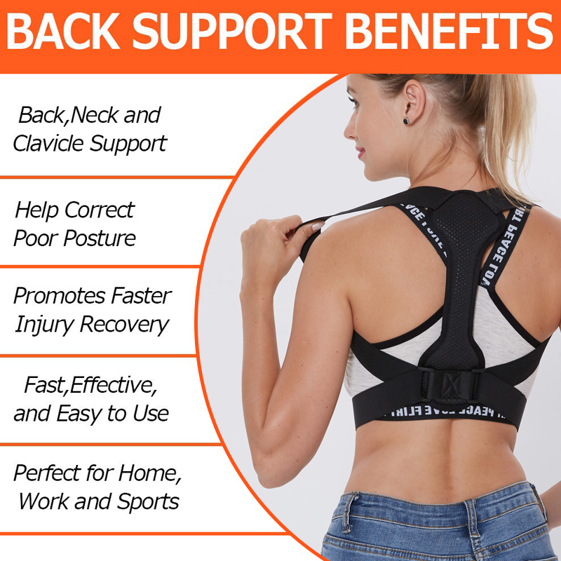 Back Posture Corrector Women Men Prevent Slouching Relieve Pain Posture Straps, Clavicle Support Brace 2