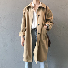 2020 new street style womens long trench coats korean fashion ladies loose long