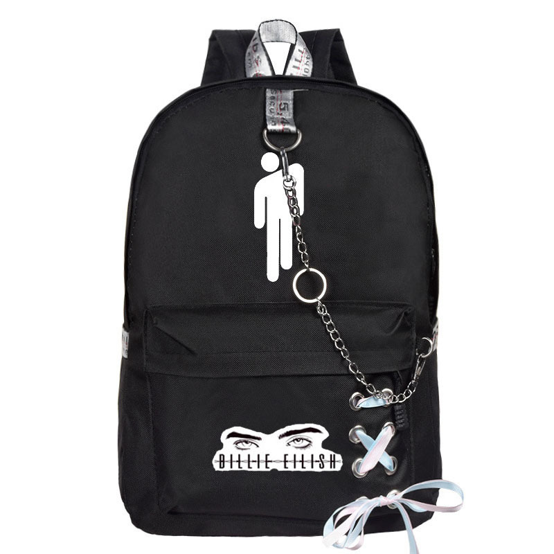 Billie Eilish Billie Avery What Related Products School Bag Backpack Street Fashion Casual Canvas Bag