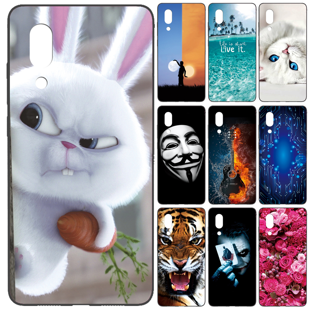 GUCOON Silicone Cover for Sharp Aquos S2 C10 5.5inch Case Soft TPU Protective Phone Back Case Cartoon Rose Flowers Bumper Shell