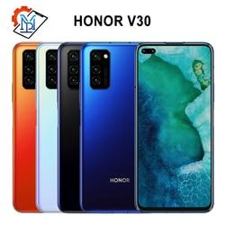 Оригинальный Honor V30 5G мобильный телефон 6,57 дюйм6 ГБ + 128 ГБ Kirin990 7 нм Восьмиядерный Android 10 AI Тройная камера 40 Вт SuperCharge Samrtphone