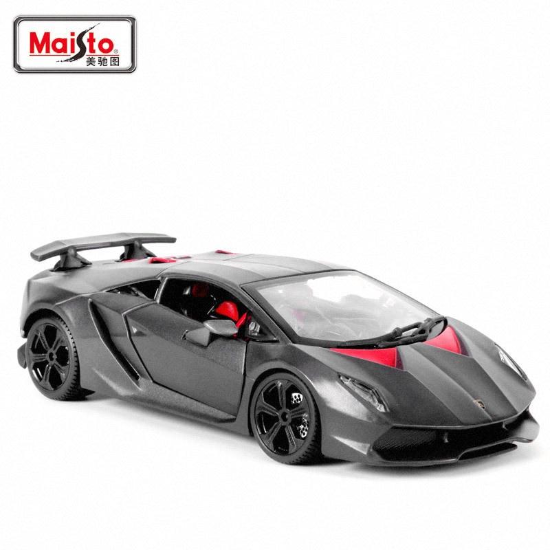 Maisto 1: 24 Alloy Car Model Lamborghini Carbon Fiber Gray Sixth Element Sports Car Model