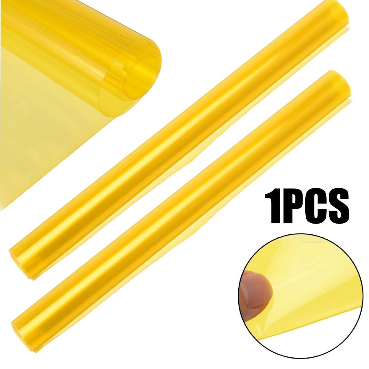 Novo 1 rolo 60x30cm luz do carro adesivo amarelo farol taillight matiz vinil fumaça filme folha etiqueta do carro estilo
