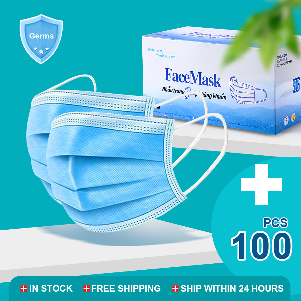 10/50/100 Pcs Disposable Mouth Mask 3-Ply Anti-Dust Meltblown Cloth Masks Nonwoven Face Masks Elastic Earloop Protective Mask