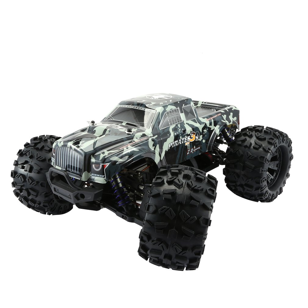 ZD RACING MT8 Pirates3 1/8 2,4G 90 km/h eléctrico sin escobillas RC coche de carreras OFF Road modelo Pie Grande monster camión RTR/Marco de coche - 4