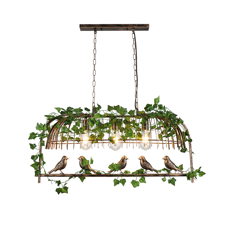 Retro Industrial Wind LED Pendent Light E27 Originality Iron Art Birdcage Lights Fixture Restaurant Bar  Plant Bird Hanging Lamp