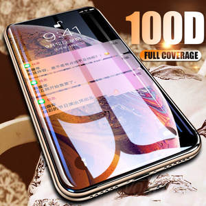 VOULAO 100D Protective Glass On The For iPhone 6 6s 7 8 Plus X Tempered Screen Protector For iPhone X XR XS MAX 6 7 8 Glass Film