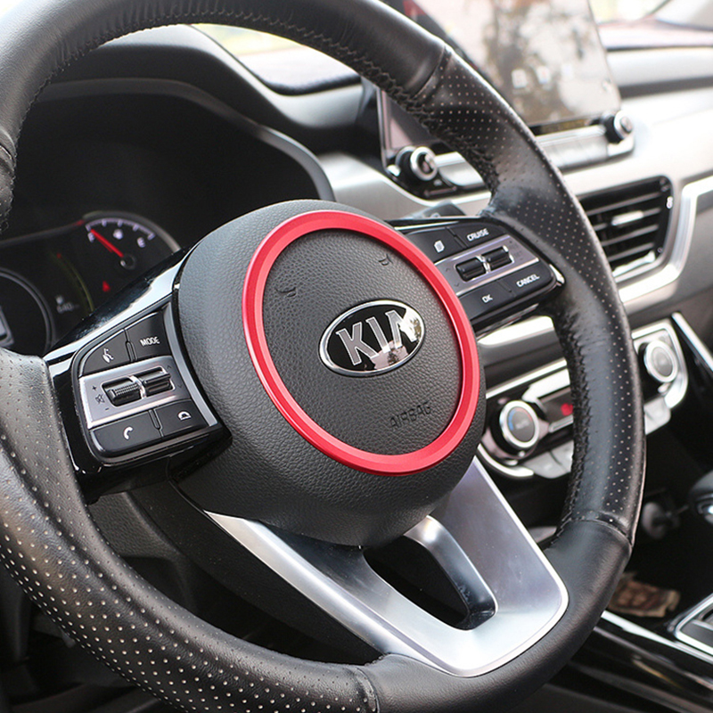 <font><b>Car</b></font> styling Accessories sticker For <font><b>kia</b></font> <font><b>Sportage</b></font> 2018 2019 <font><b>Car</b></font> steering <font><b>wheel</b></font> alloy decoration ring Cover Interior stickers image