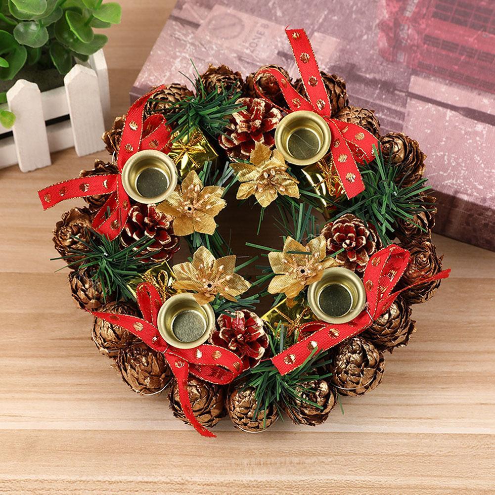 Christmas Wreath Artificial Handmade Garland Door Decoration Supplies New Year Party Shopping Mall Window Advent Wreath