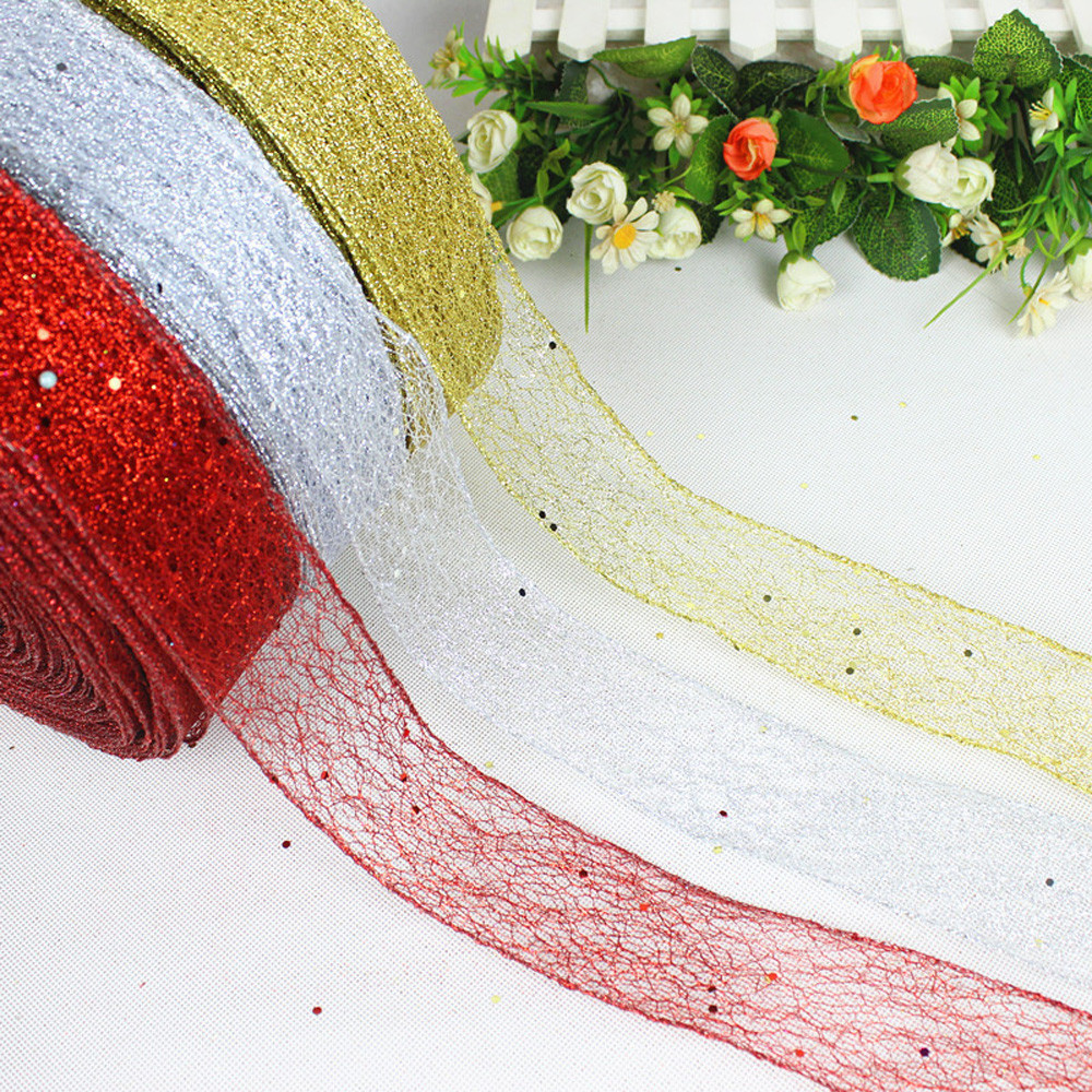 VARIOUS COLOURS 5cm 10 METER M WEDDING RIBBON CRAFT FLOWER FLORISTRY 2 INCH