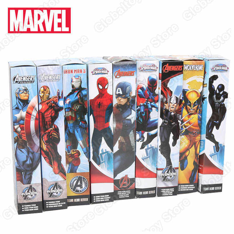 30Cm Marvel Figuur Avenger Endgame Thor Captain Thanos Wolverine Captain Spider Man Iron Man Spiderman Figuur Speelgoed Geschenken