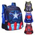 Школьные сумки MARVEL  Супермен  Бэтмен  Человек-паук  Капитан Америка  детские школьные сумки для мальчиков и девочек  студенческий рюкзак для ...